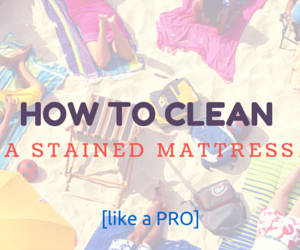 how to get stains off a mattress