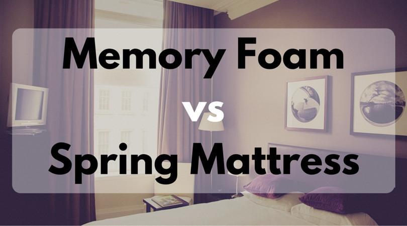 Memory Foam vs Spring Mattress Comparison