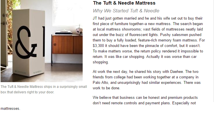 Story Beind Tuft and Needle Mattress