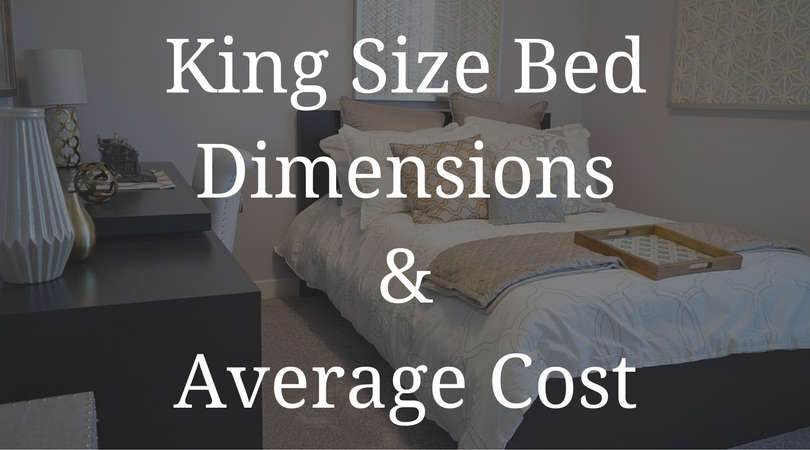 King size bed dimensions and average cost
